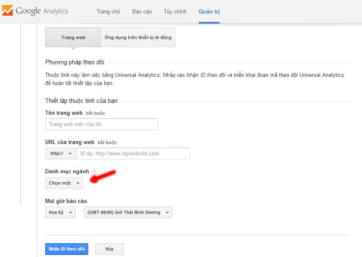 Thêm trang web vào Google Analytics