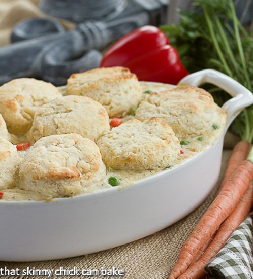 Chicken Pot Pie with Herbed Goat Cheese Biscuits