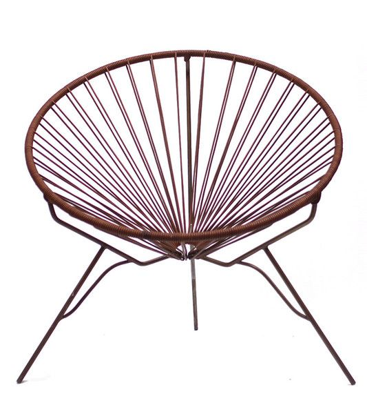Acapulco round chair with leather cord home pinterest