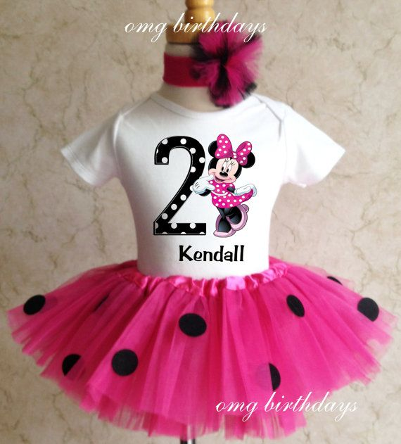 Minnie Mouse Black Polka dots 1st 2nd 3rd Birthday by TheTutuFairy, $ ...