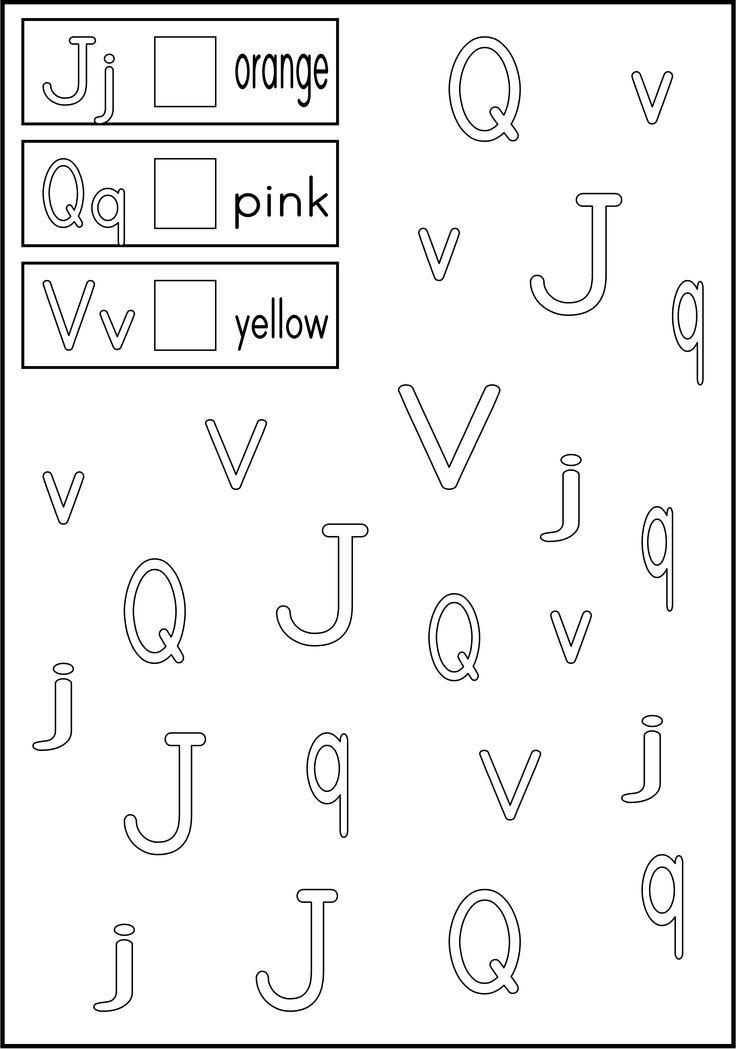 Alphabet Worksheets   Kindergarten: ABC Letter Recognition   Pinterest