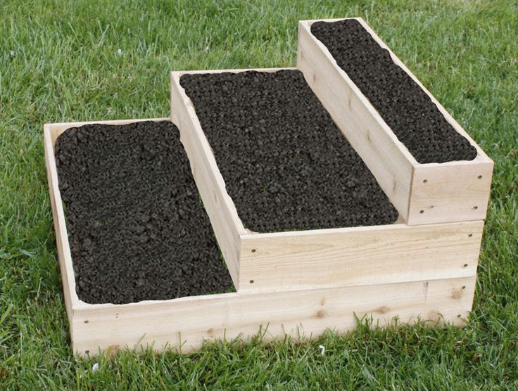 Multi Tiered Backyard : Cedar Planter Raised 3 Tier Garden Bed Free Shipping