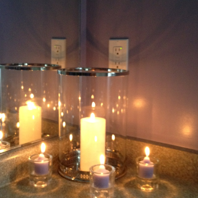 Candles From Partylite In My Bathroom House And Home