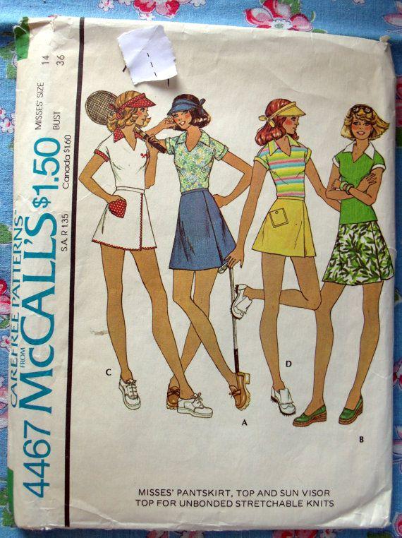 McCalls Tennis Clothes for Women Sewing by DeborahsForgetMeNots, $2.95