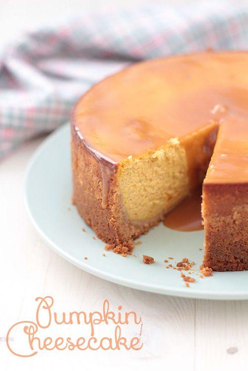 Pumpkin Caramel Cheesecake (in spanish) | Cheesecake and pie | Pinter ...