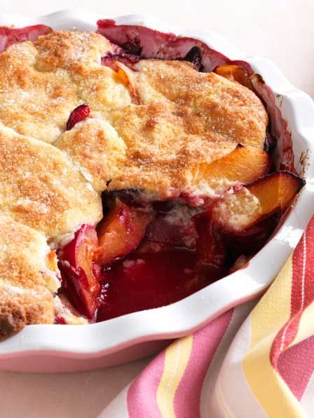 plum cobbler with buttermilk crust | sugar, spice, & everything nice ...