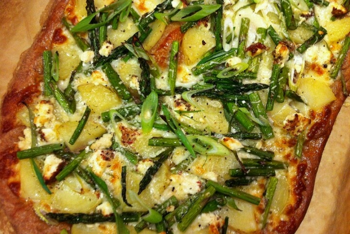 cheese pizza asparagus fingerling potato and goat cheese pizza pink ...