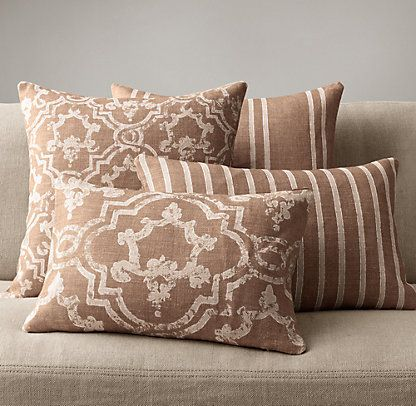 Throw Pillows Rust : Pillows & Throws Restoration Hardware Living Pinterest