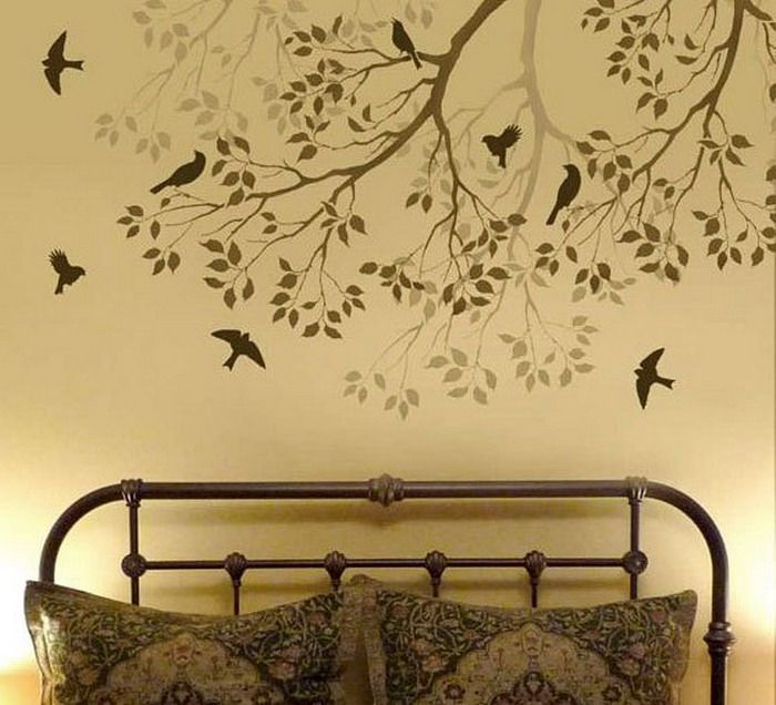 bedroom ideas with wall stencils home decor pinterest
