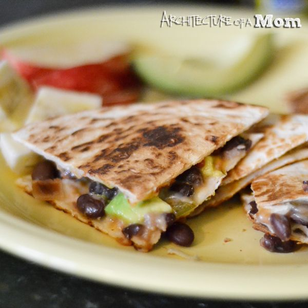 black bean and avocado quesadillas i made this tonight and it was ...