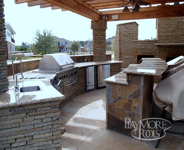 Outdoor kitchen ideas outdoor living spaces pinterest for Outdoor kitchen ideas pinterest