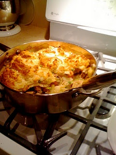 is a photo of the Turkey Pot pie I made with a cheddar biscuit crust ...