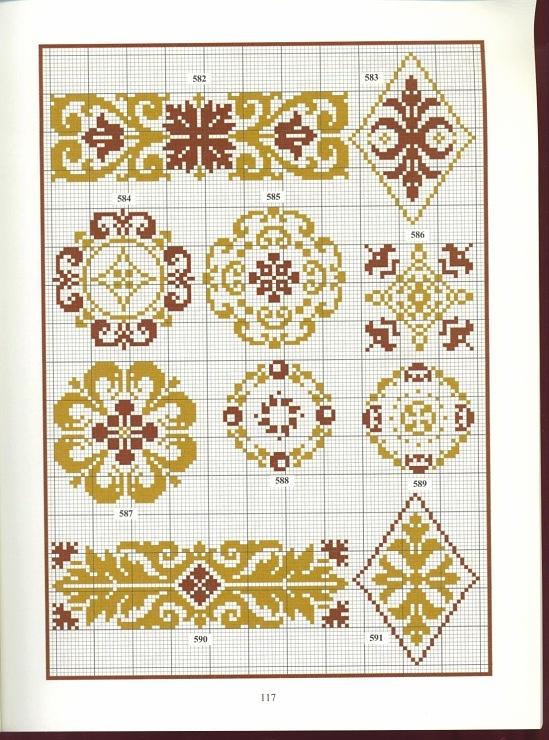 Арабские узоры вышивка крестом 33