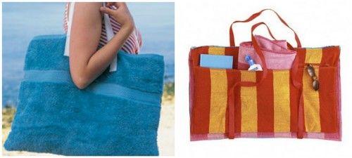 DIY Huge Towel Beach Tote — Crafthubs