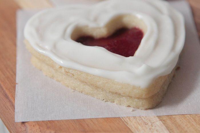 Valentine Shortbread Cookie Sandwiches | Recipe