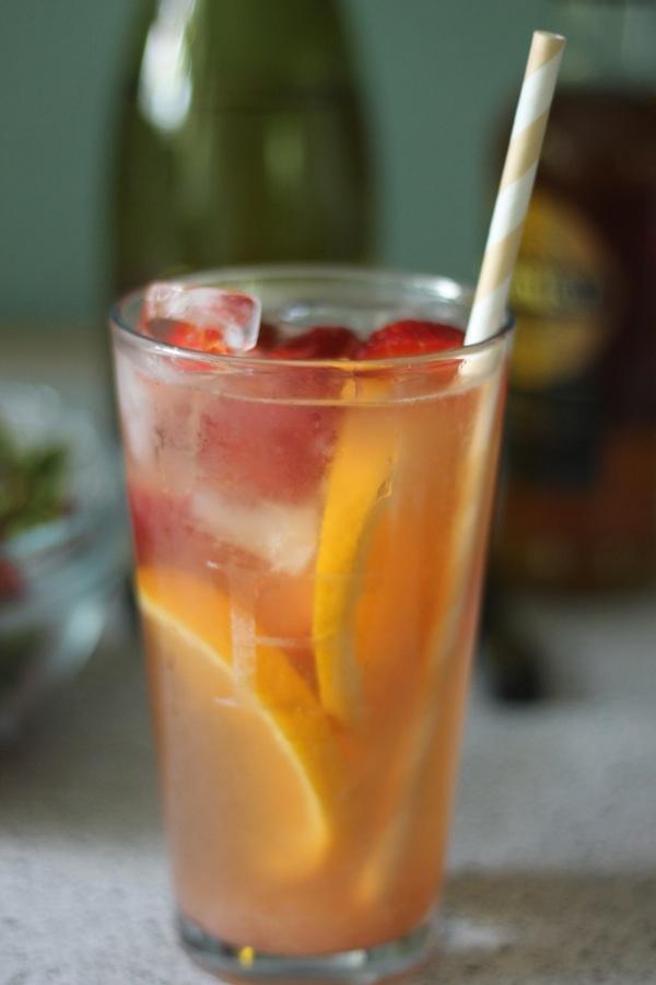 strawberry rhubarb sangria | Rhubarb! | Pinterest