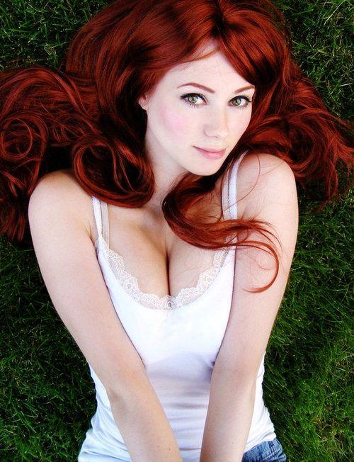 Redhead alabaster skin