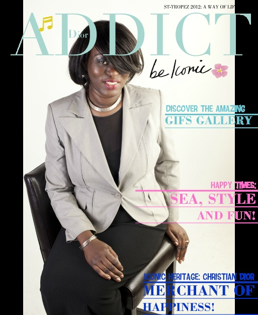 Magazine's cover and discover the new Dior Addict fragrance