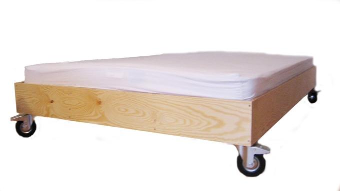 Casters Bed Platform