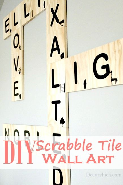 DIY Scrabble Tile Wall Art