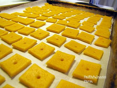 Homemade Cheddar Cheese Crackers | Food Food & More Food | Pinterest