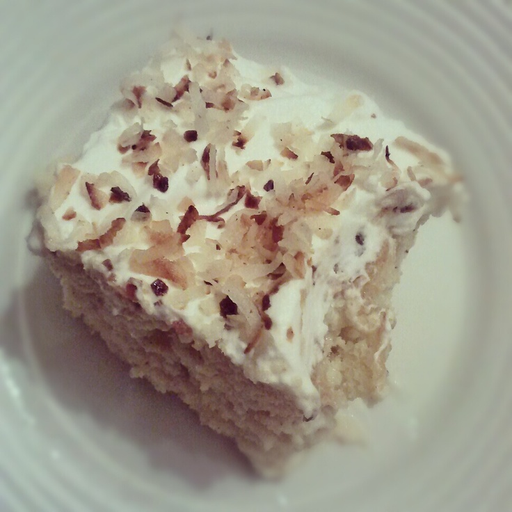 Malibu Coconut Rum Tres Leches Cake | Sweets for My Sweetie! | Pinter ...