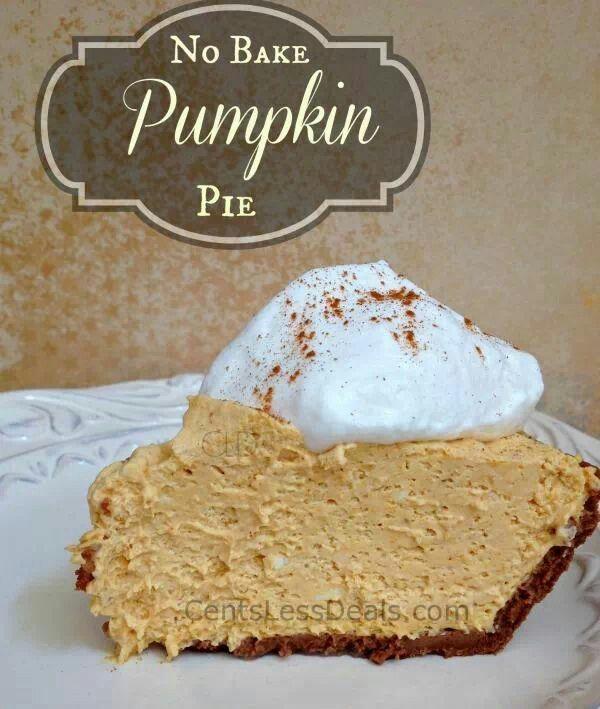 No bake pumpkin pie | Thanksgiving | Pinterest