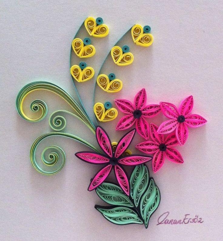 Как сделать цветок из бумаги из квиллинга