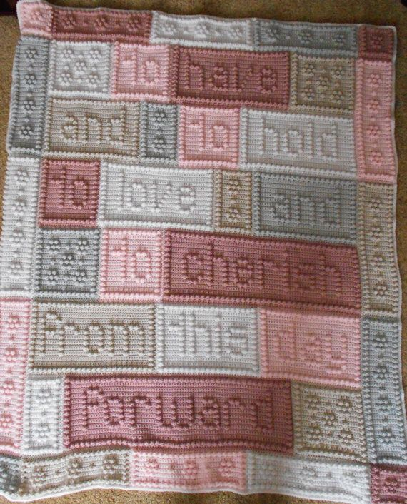 CHERISH pattern for crocheted blanket.