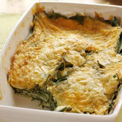 Spinach-Cheese Bake | Food Pantry | Pinterest