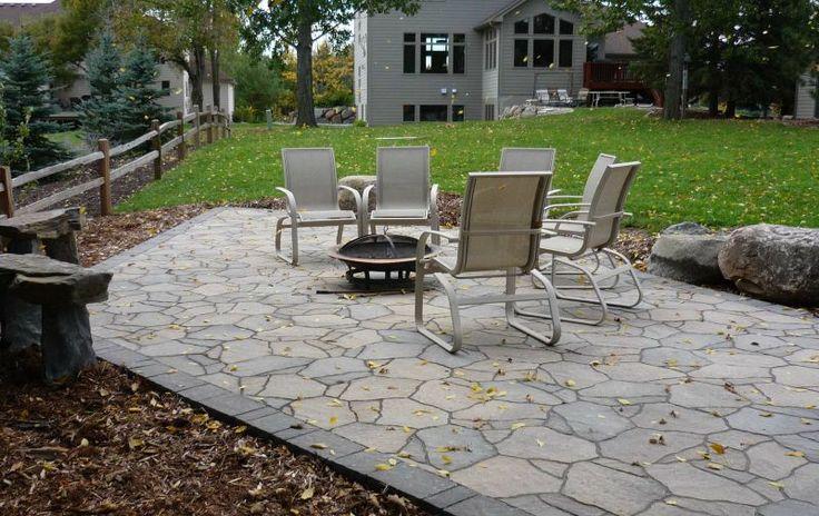 Edge for patio patio stone ideas pinterest