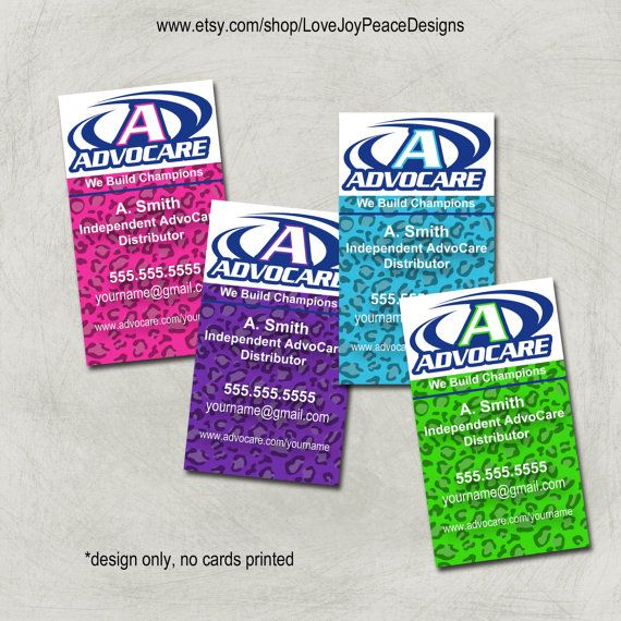 Gallery For Advocare Business Card Template