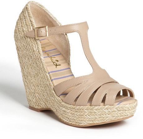 Splendid 'Lovely' Espadrille Sandals Wedges Shoes Size 9, Beige