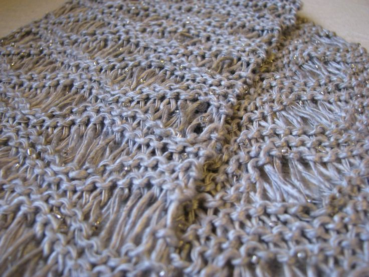 Found on christynelsonnet Knitting Stitches Men Scarves