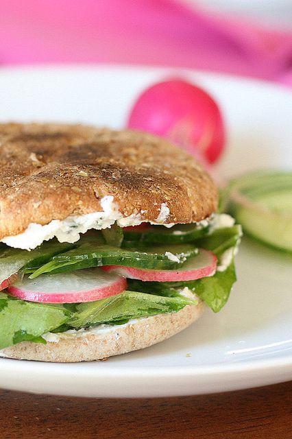 ... Wednesdays: Cucumbers & Radishes + Cuke & Radish Sandwich with Go