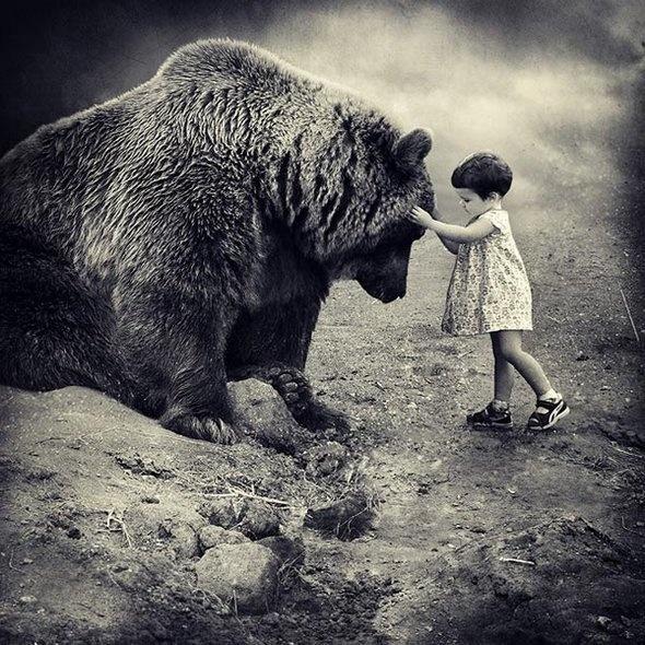 La niña y el Oso...