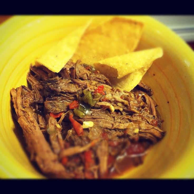 Slow Cooker Beef Machaca | Slender Kitchen (Sub 1 T worcestershire and ...