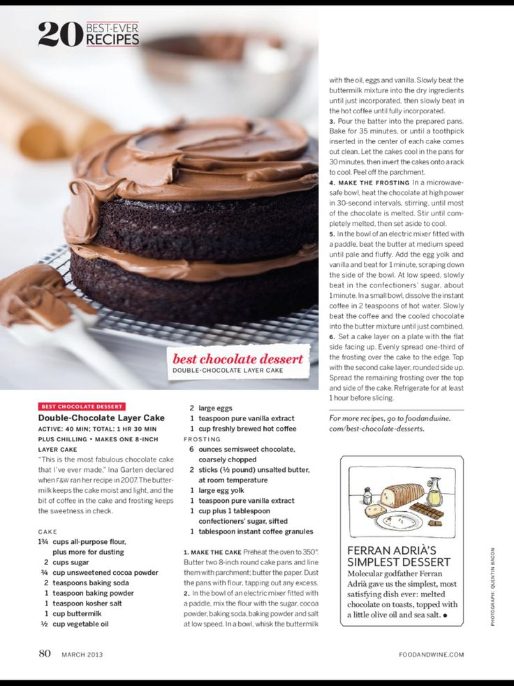 Double chocolate layer cake   Sweet stuff   Pinterest