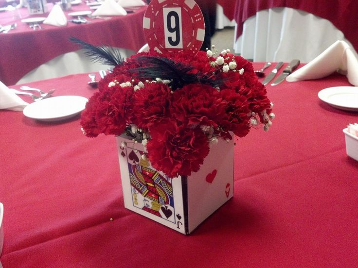 Poker themed wedding centerpieces best gambling introductory offers