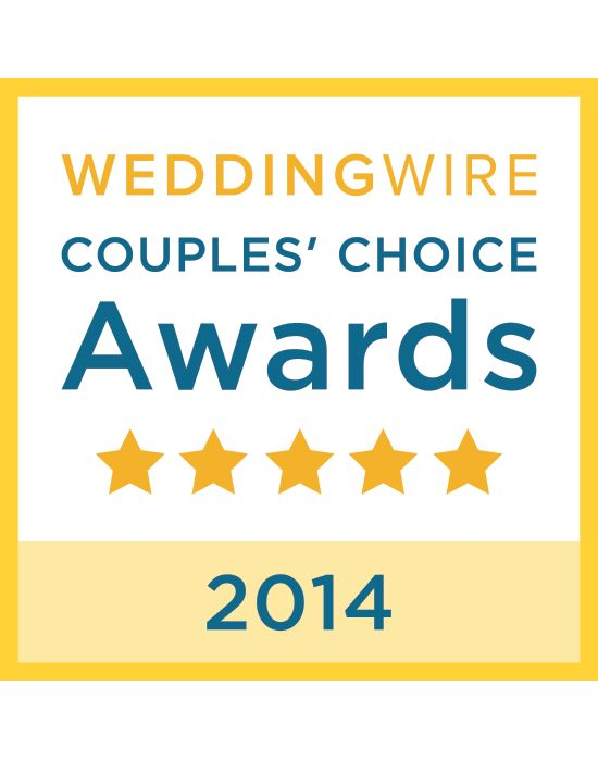 Thanks to our past clients! We won the WeddingWire Couples' Choice Awards 2014 for excellence in quality, service, responsiveness and professionalism! :D