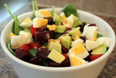 Salad With Egg, Nuts, And Veggies Recipes — Dishmaps