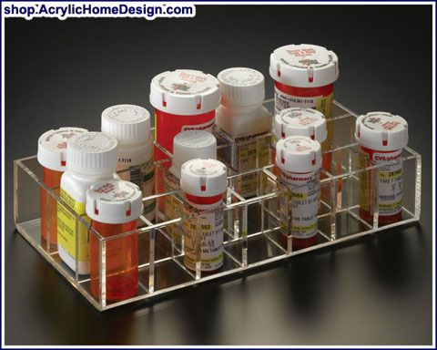 Pill bottle organizer organization pinterest for Prescription bottle holder