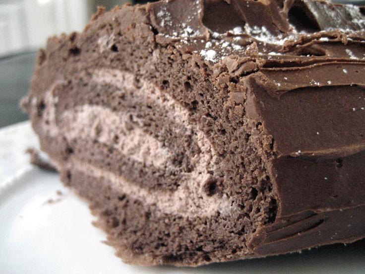 Chocolate Yule Log | Baking | Pinterest