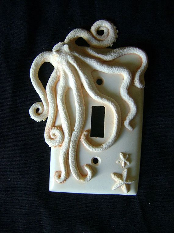 Octopus Light Switch Cover by SookeSculptures on Etsy, $10.00 - Etsy