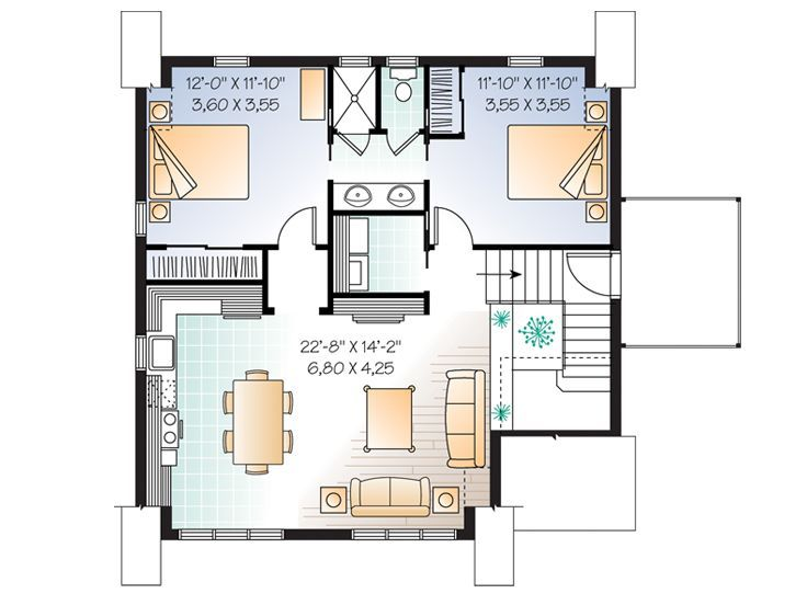 Garage Apartment Plan For The Home Pinterest