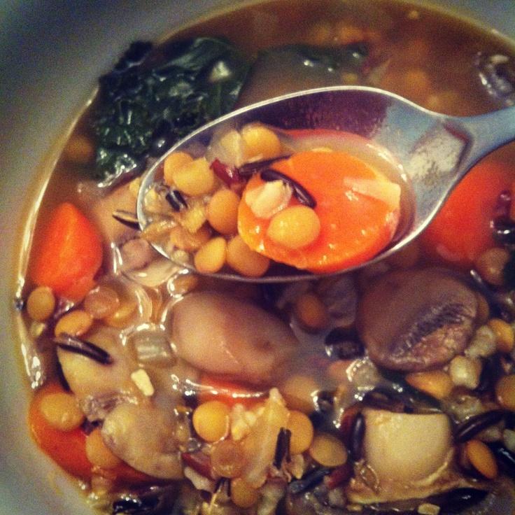 Hearty Wild Rice & Mushroom Soup www.crunchyinthepanhandle.com