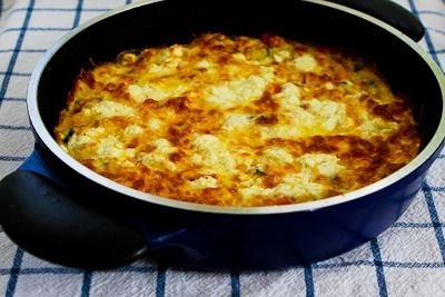This Greek Frittata with Zucchini, Tomatoes, Feta, and Herbs is great ...