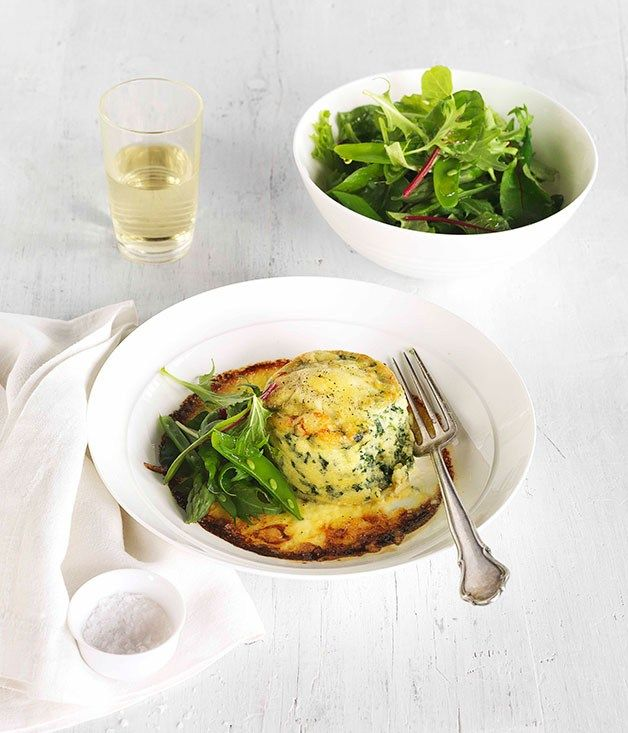 Double-baked spinach and ricotta souffle recipe | Gourmet Traveller ...
