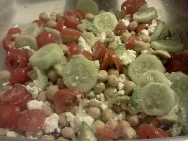 Greek garbanzo bean salad! | Salads | Pinterest