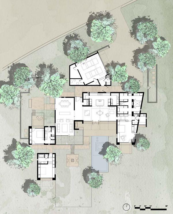 Lake Flato Floor Plan Renderings Models Pinterest